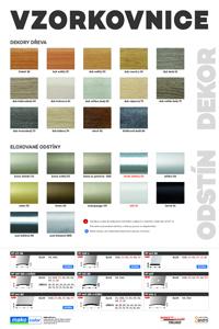 Vzorkovnice odstínů podlahových profilů